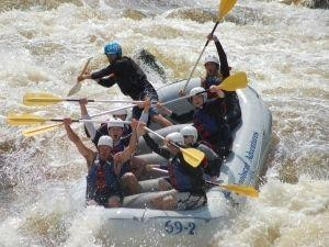 Final Chute in the Cribworks Rapid on the Penobscot River.