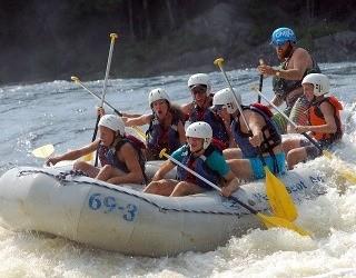 White water rafting trips in Millinocket, Maine.