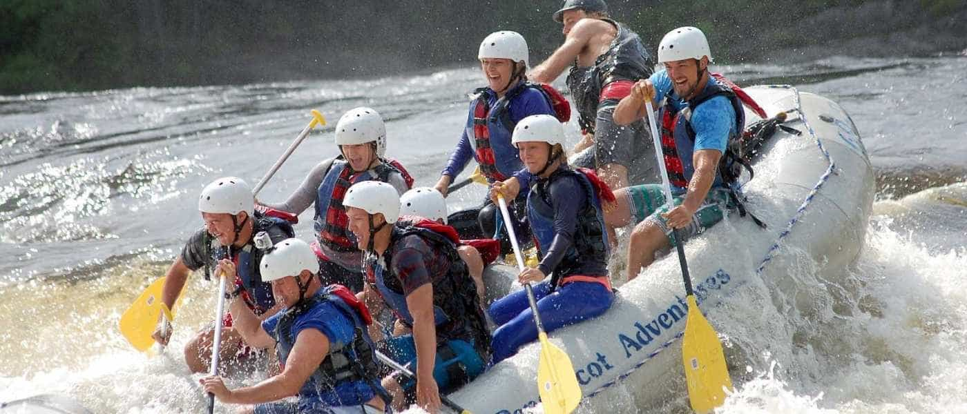 Maine White Water Rafting Trips for Friends and Families